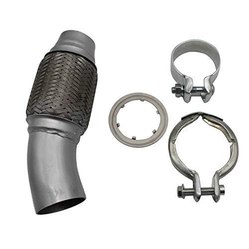 DEtrade Auspuffrohr Motorauspuffrohr Edelstahl-Verbundrohrfilter E81 E82 E87 E88 E90 (Silver)