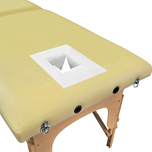 Nexos Trading - Cojines para camilla de masaje (100 unidades, 30 x 21 cm), color blanco