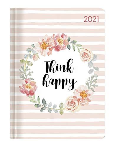 Alpha Edition - Agenda Settimanale Ladytimer 2021, Formato Tascabile 10,7x15,2 cm, Think Happy, 192 Pagine