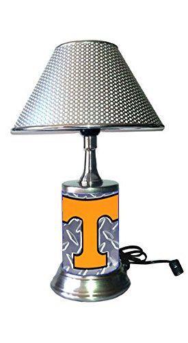 Rico Table Lamp with Shade, a Diamond Plate Rolled in on The lamp Base, TeVo