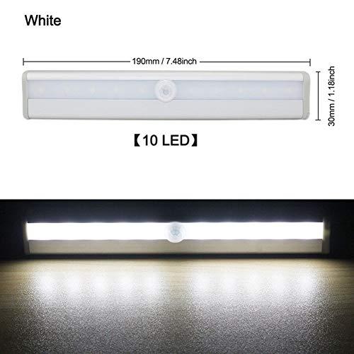 GZSC 6 / 10 LEDs PIR LED-bewegingssensor licht kast bedlamp LED onder kast-nachtlampje voor wandkast trappen keuken
