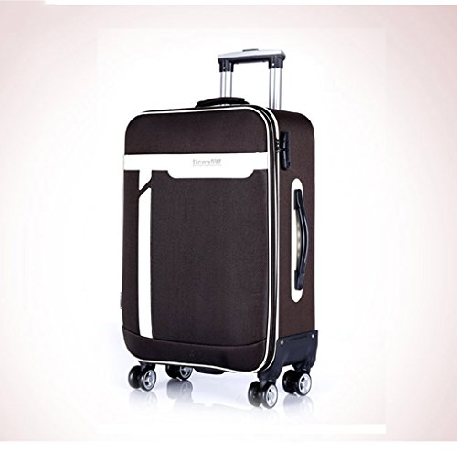 MFCJK Fashion CQL - Maleta para Exteriores (70 x 25 x 56 cm, 37 x 23 x 61 cm, 39 x 24 x 66 cm, 46 x 28 x 77 cm), Color Morado y Negro, marrón, 39 * 24 * 66cm