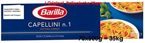 Barilla Capellini n.1 70 x 500g = 35kg