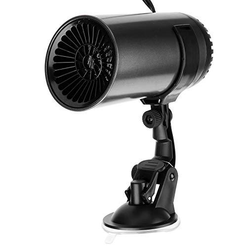 Ventilador de coche de 12 V / 150 W, calentador rápido, 2 en 1, calefacción y refrigeración, desempañador automático portátil negro, desempañador de parabrisas ABS antiincendios, desempañador de parab