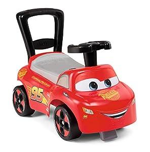 Smoby Mi Primer Coche de Cars, Coche para niños con Compartimento de Almacenamiento y protección antivuelco, para Interiores y Exteriores, diseño de Cars, para niños a Partir de 10 Meses, Color Rojo