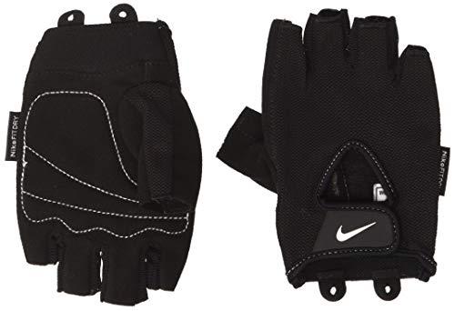 Nike Sports Wear Gloves Fundamental–Guanti da Fitness Yoga/Pilates/Fitness per Donna, Colore: Nero/Bianco, Donna, Nero/Bianco, M