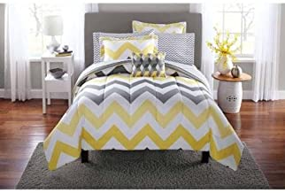 Best yellow and grey twin comforter set Reviews