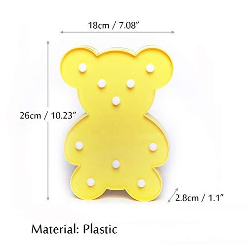 Preisvergleich Produktbild YCEOT Led Bär Nachtlichter Stimmungslampe für Kinder Kinder Baby Kinderzimmer Dekoration Licht Home Nachtlicht Zubehör Zubehör