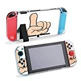 SUPNON Finger Up Cartoon Beautiful Illustration Compatible with Nintendo Switch Console & Joy-Con Protective Case, Durable Flexible Shock-Absorption Anti-Scratch Drop Design36219
