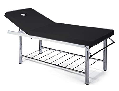 Luxe massagestoel, professionele massagestoel, ligstoel, ligstoel, FISIOTERAPISTA TATUAGGI RELAX zwart.