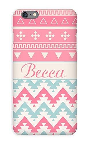 Pink Tribal pattern case for girls Pastel chevron Compatible with iPhone 4 4s 5 5s 6 6s 5c SE 7 8 / Plus X
