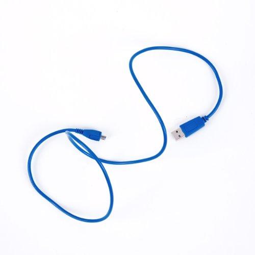 BA5I5 datakabel 95 cm in trendy blauw voor HTC EVO 3D
