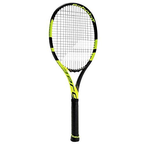 Babolat Pure Aero Vs Strung Raqueta de Tenis, Unisex Adulto, Negro/Amarillo, 1