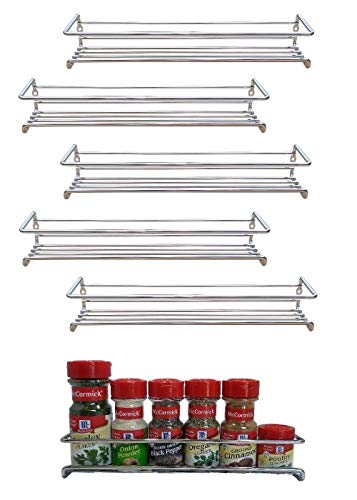 Premium Presents 6 Pack Wall Mount Spice Rack Organizer for Cabinet Spice Shelf Seasoning Organizer Pantry Door Organizer Spice Storage 12 x 3 x 3 inches Brand