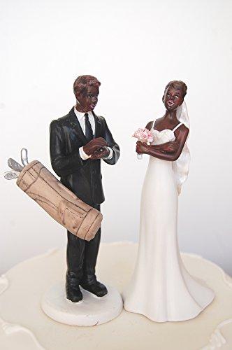 DreamWedding-UK Figurine humoristique en résine artificielle pour mariée et mariée exaspérée Noir 13