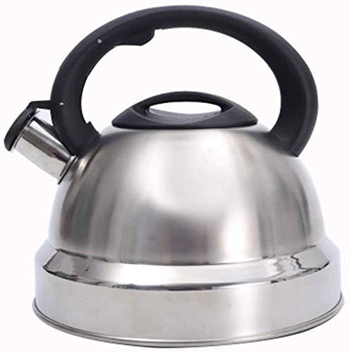 Bouilloire induction Bouilloire en acier inoxydable de gaz naturel Sifflet de sifflet 3,5L Capacité Bouilloire à induction à induction de bouilloire bouilloire argent 22.5x22cm WHLONG