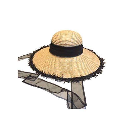 Strandmuts vrouwelijk strand stro hoed vizier zon bescherming grote wastafel hoed casual wild stro hoed handgemaakte wild vizier XINYALAMP