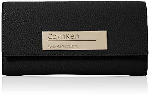 Calvin Klein Sided Large Trifold, Portafoglio da donna, Nero (nero)