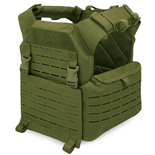 BULLDOG TACTICAL - Chaleco de Combate portaplacas Kinetic Verde Oliva