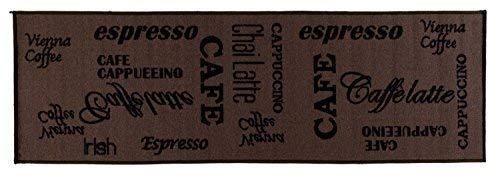 onloom 1100391 Tappeto da Cucina con Motivo caffè, Marrone, 60 x 180 cm
