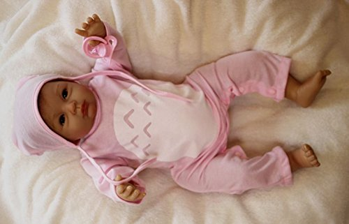 HOOMAI 22pulgadas 55cm muñeca Reborn bebé Niñas de Silicona Vinilo Realista Baby Doll Girls Magnetismo Juguetes Ojos Abiertos