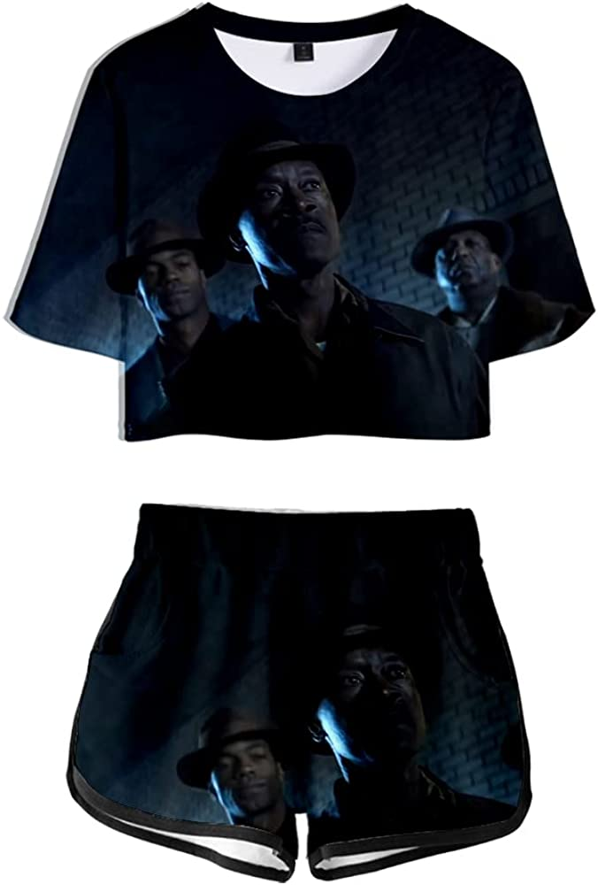 Unizka No Sudden Move Merch Top Suit Summer Cool Thriller Movie Two Piece Set Kpop T Shirt & Shorts (NA21110,XXS)
