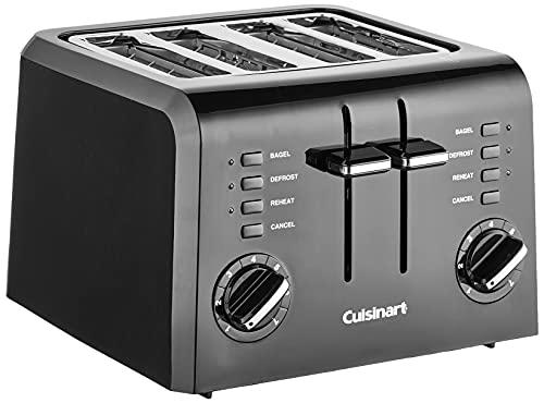 Cuisinart 4 CPT-142BK 4-Slice Compact Plastic Toaster,...
