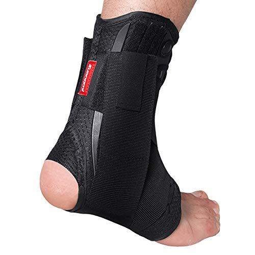 DongShiBo Soporte de Tobillo Soporte de Movimiento ortopedia estabilizadora Ajustable con Almohadilla de Tobillo protección de Calcetines de fútbol Respirable