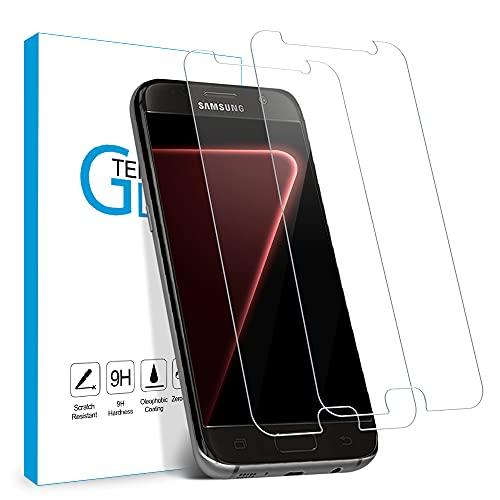 Carantee Panzerglas Schutzfolie für Samsung Galaxy S7, 9H Härte Schutzfolie, HD Displayschutzfolie, Anti-Kratzer/Bläschen/Fingerabdruck/Staub Panzerglasfolie für Samsung S7 [2 Stück]