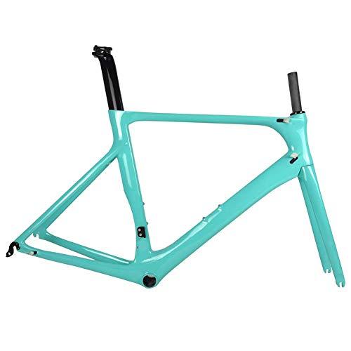 ZGYQGOO Vollcarbon Rennrad Rahmen DI2 und Carbon Rennrad Maschinerie BB86 50.5/53/56 cm 2 Jahre Garantie,56cm