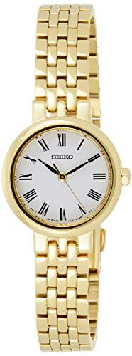 Seiko Damen Analog Quarz Uhr mit Edelstahl beschichtet Armband SRZ464P1