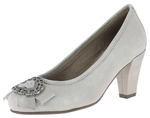 Hirschkogel Damen Pumps 3597410 Trachtenschuhe | Oktoberfestschuhe | Dirndlschuhe T-Strap | Samt Velours Glitzer | Spangenpumps | Schuhe zum Drindl | Schuhe zur Lederhose, Größe:41 EU, Farbe:Bronze