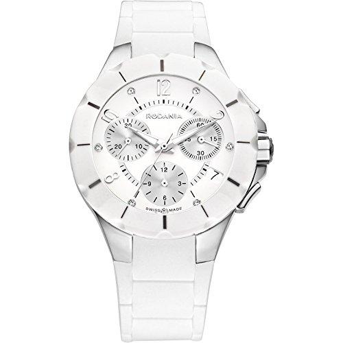 Rodania 24900-20 - Reloj para Mujeres, Correa de Goma Color Blanco