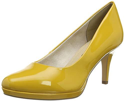 Tamaris 1-1-22444-24, Zapatos de Tacón Mujer, Amarillo (Saffron Patent 641), 40 EU