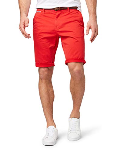 TOM TAILOR Herren Chino Basic Sommer Kurze Hose,Rot (Tibet Red 17761),34