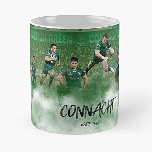Rugby Connacht Carty Heffernan Union Healy AKI Ireland Best 11 oz Kaffeebecher - Nespresso Tassen Kaffee Motive