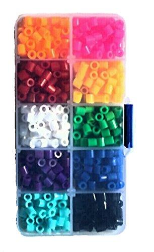 Coffret 10 Compartiments DE 750 Perles A Repasser 5x5mm 750 PIÈCES en 10 Couleurs