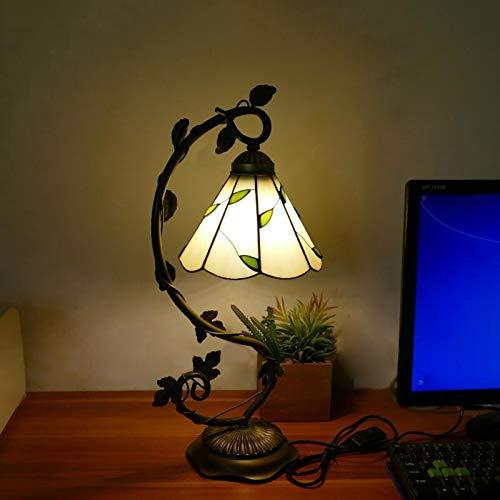 Lámparas de escritorio Tiffany Mesa de cristal Mesa de lectura Banquero de cristal de cristal Bandejo Azul Amarillo Boda Sala de estar Dormitorio Mesa de centro,A