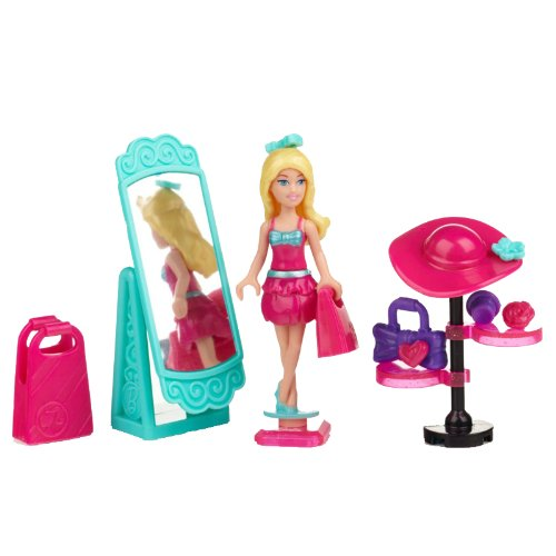 Sambros CLR-262 Toy Mega Blocks Barbie Build n Style Juego