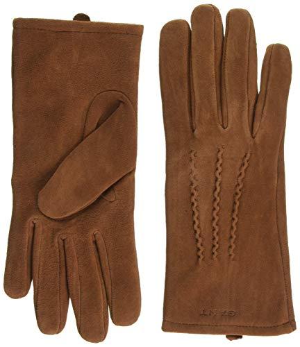 GANT Damen D1. Suede Gloves Handschuhe, Braun (Arg An Oil 218), Large (Herstellergröße: L)