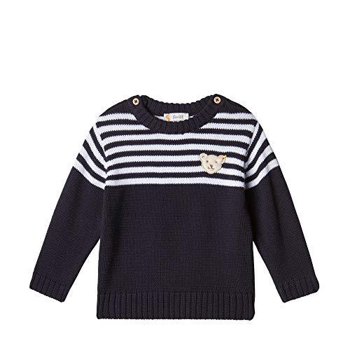 Steiff Baby-Jungen Strickpullover Pullover, Blau (BLACK IRIS 3032), 68 (Herstellergröße:68)