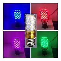 LWF-LED電球 5パック - LEDランプ電球色のコーンの装飾電球、12 / 16W E27 / E14ランプホルダー、ヴィラホームホテルレストランバーフェスティバルパーティー雰囲気 (Color : Pink-5 PACK, Size : E27-12W)