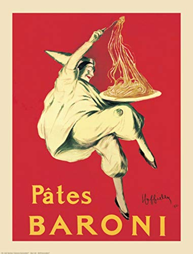 "Hotstuff Enterprise PATES BARONI Vintage Poster Print Italian Pasta Art by Leonetto Cappiello - Choose Size (24""x36"")"