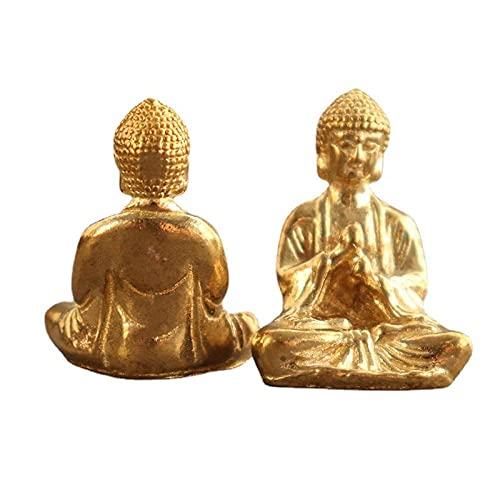 keychain Brass Buddha Keychain Pendant Portable Pocket Buddha Pendant Small Copperware