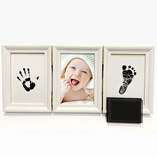 Argile Blanche Non Toxique StillCool B/éb/é Cadre Photo Cadre Empreinte b/éb/é en Bois pour Cadeau de Naissance pour Souvenir de Famille