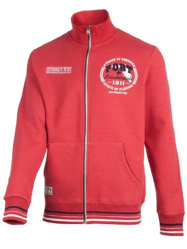 Ultrasport Sweatshirt homme Tampa, Rouge, S, 1201-180