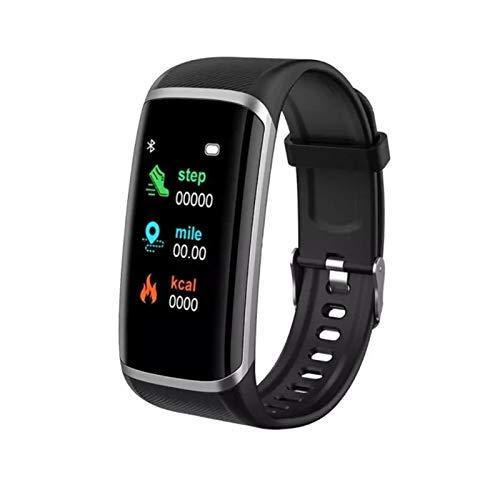 LYB Pulsera inteligente reloj inteligente hombres mujeres frecuencia cardíaca presión arterial fitness banda inteligente para Android IOS Smartwatch (color negro)