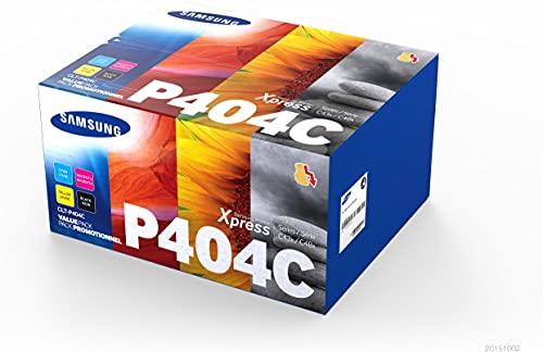 Samsung CLT-P404C (SU365A) Pack de 4 cartouches de toner noir/cyan/magenta/jaune, pour imprimantes SL-C430W, SL-C480W, SL-C480FW