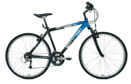 Bicicleta de montaña para hombre, cuadro de aluminio, color azul y negro, peso 13,9 kg, 24 velocidades, horquilla delantera RST – Ref 'DAFT' 2011