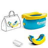 WISHTIME Baby Travel Potty Training Seats Portable Toilet Training Seat with Liners Disposable for Babies,Toddlers and Kids,Easy to Carry and Use When Outside Travel or Potty Training